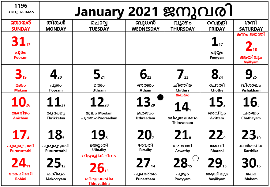 January 2021- January is the first month of the year, it has 31 days.
